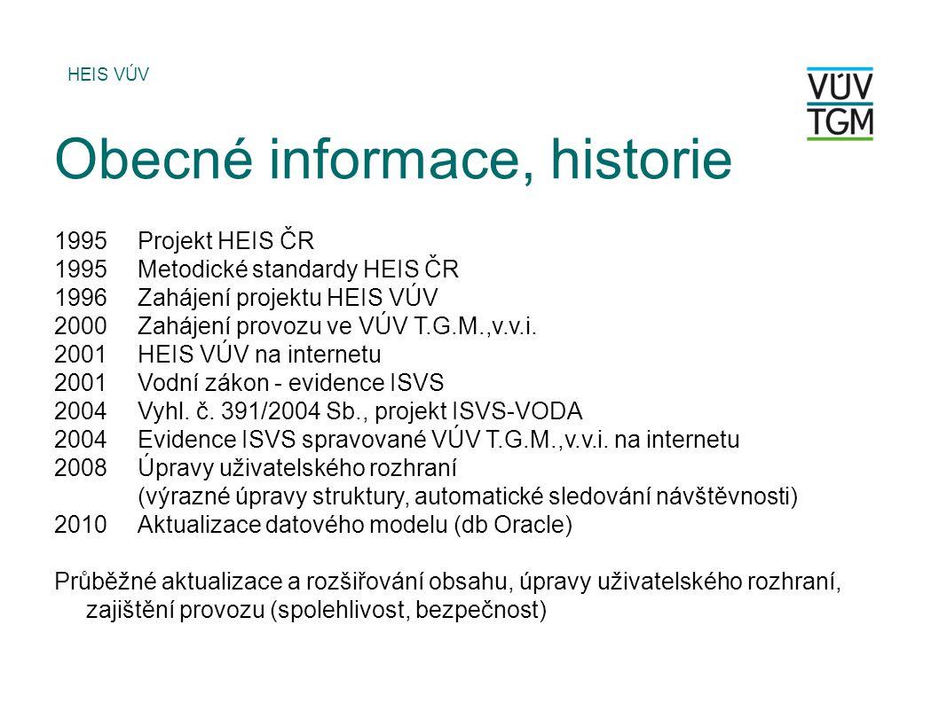 Obecné informace, historie