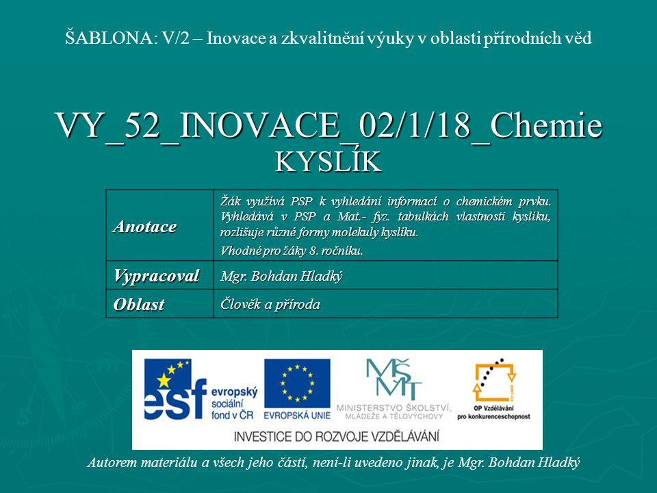 VY_52_INOVACE_02/1/18_Chemie