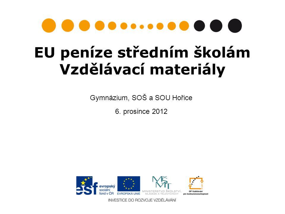 EU peníze středním školám Vzdělávací materiály