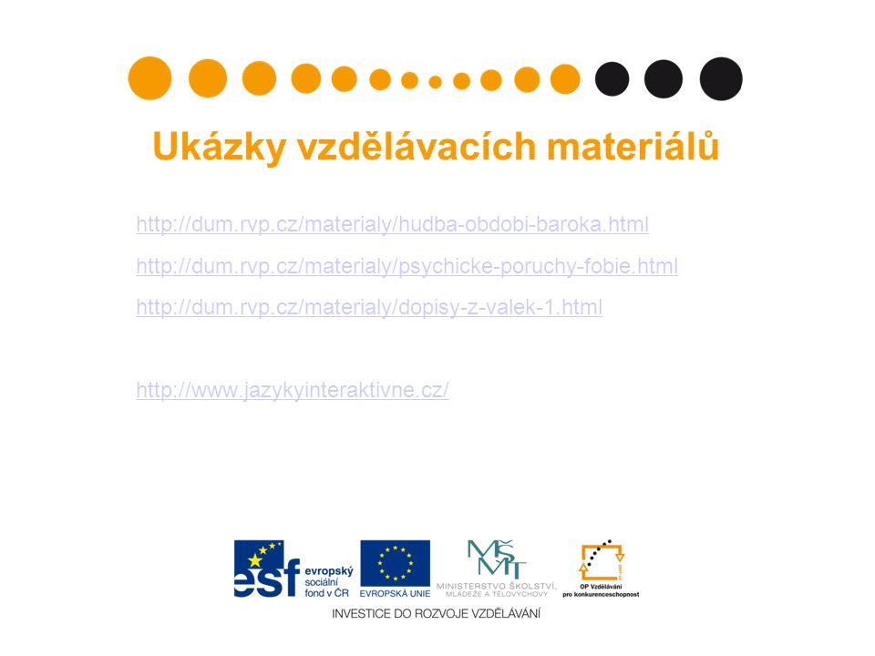 Ukázky vzdělávacích materiálů