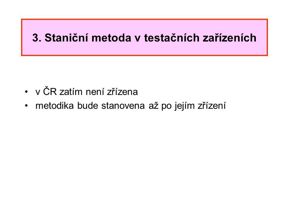 3. Staniční metoda v testačních zařízeních