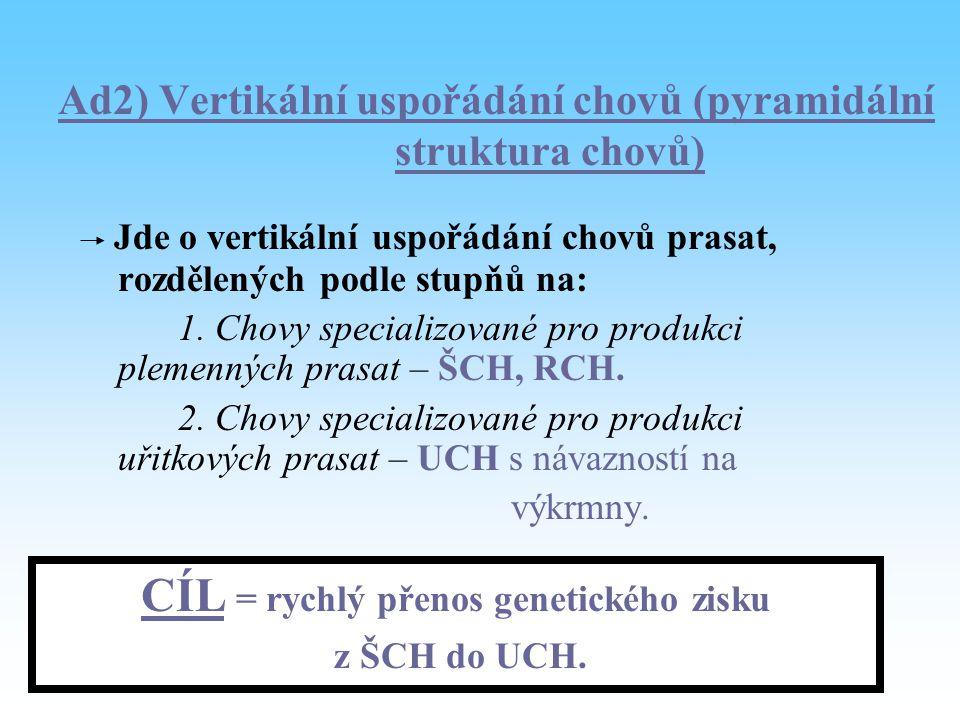 Ad2) Vertikální uspořádání chovů (pyramidální struktura chovů)