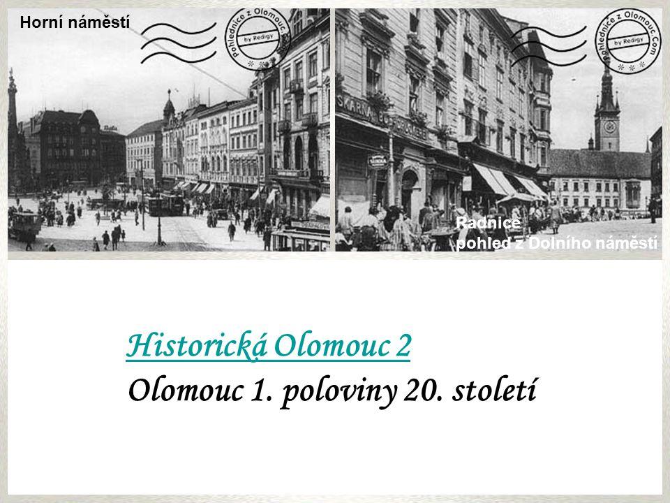 Olomouc 1. poloviny 20. století