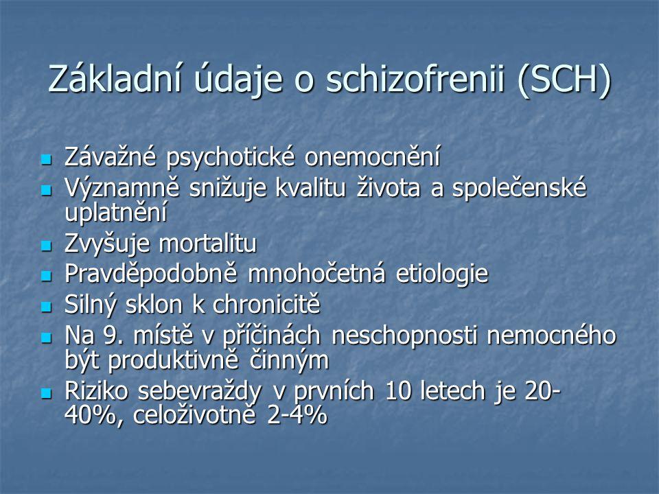 Základní údaje o schizofrenii (SCH)