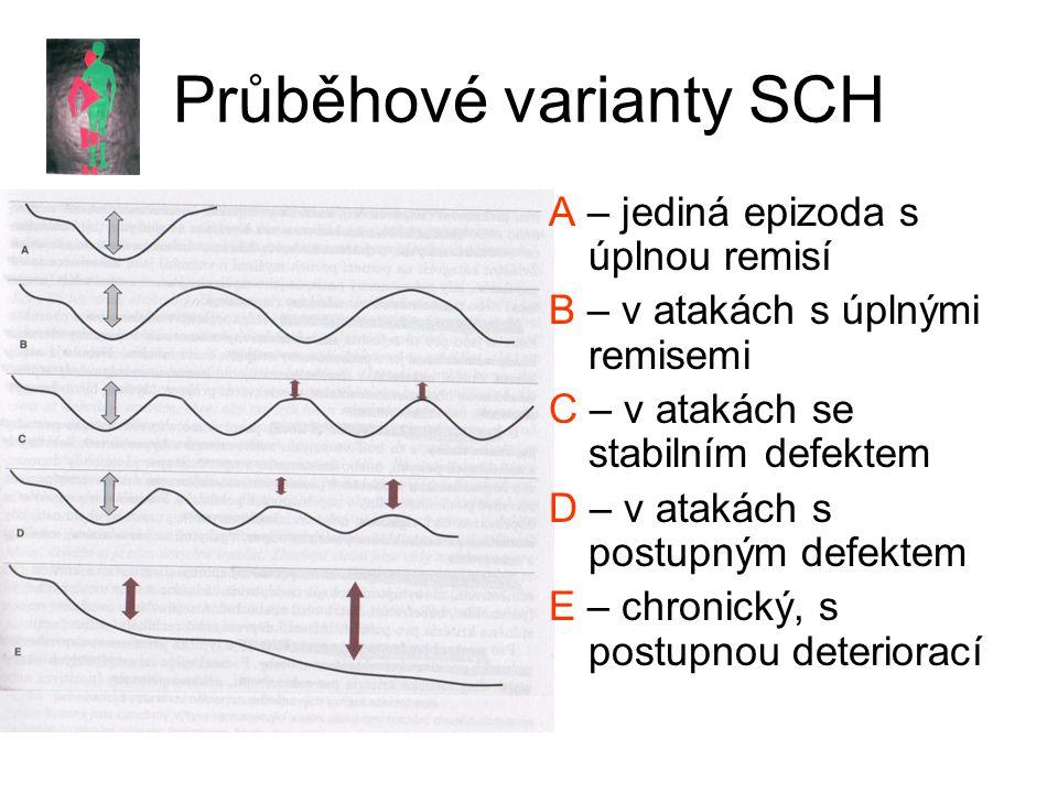 Průběhové varianty SCH