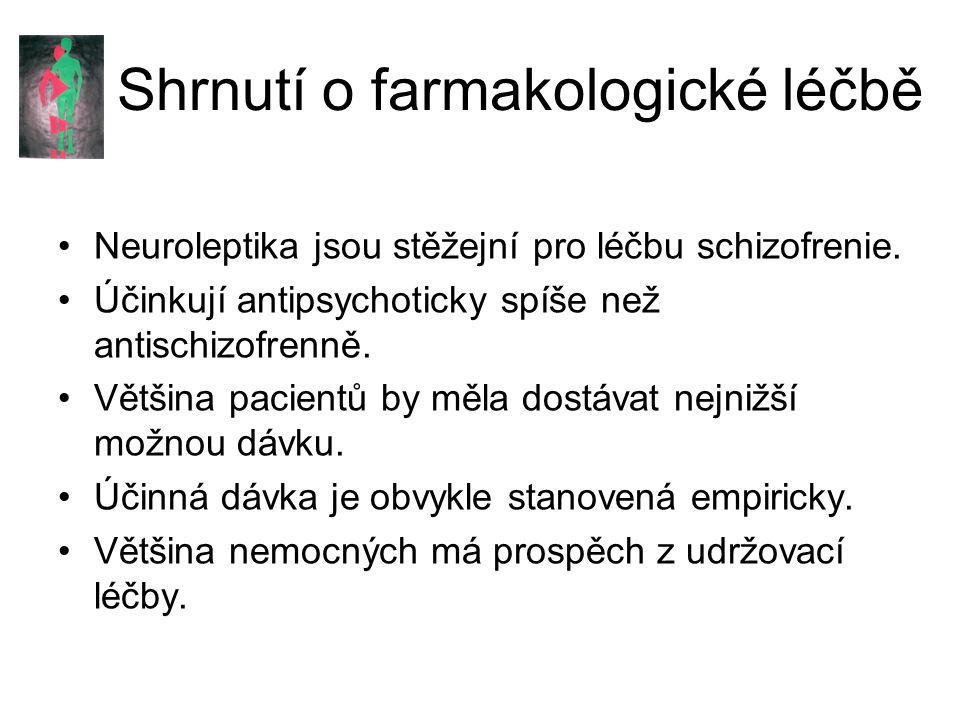 Shrnutí o farmakologické léčbě
