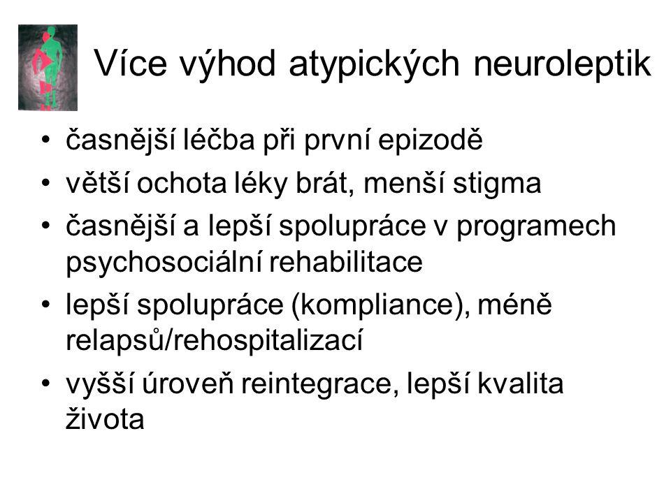 Více výhod atypických neuroleptik