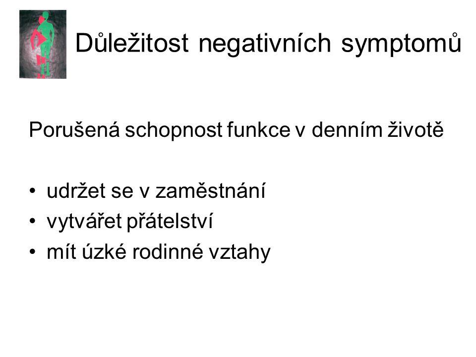 Důležitost negativních symptomů