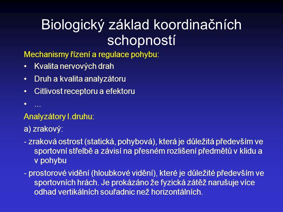 Biologický základ koordinačních schopností