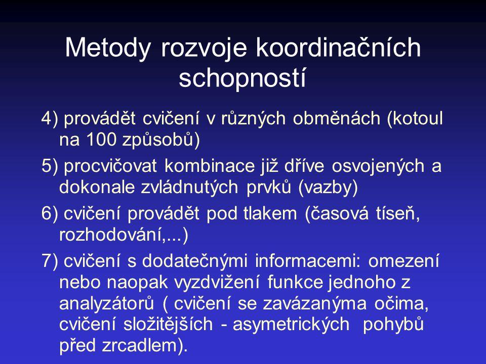 Metody rozvoje koordinačních schopností