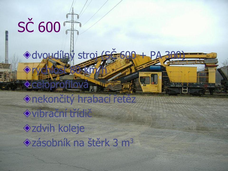 SČ 600 dvoudílný stroj (SČ 600 + PA 300) rychlost 80 km/h