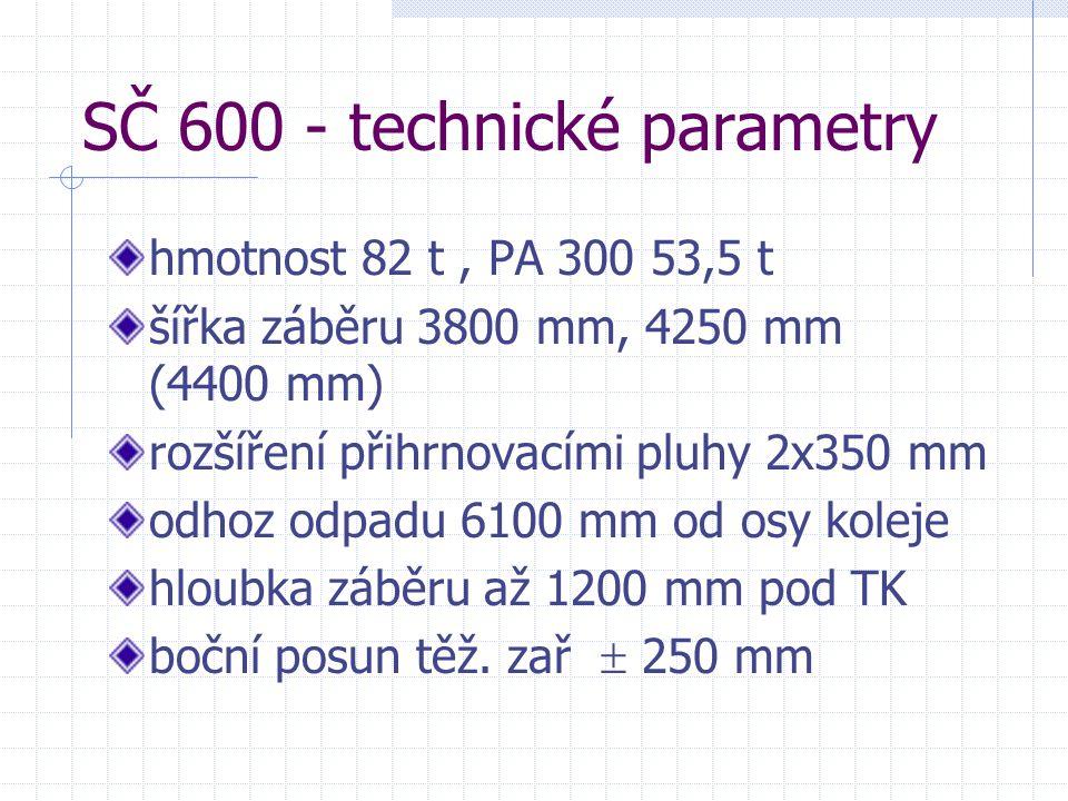 SČ 600 - technické parametry