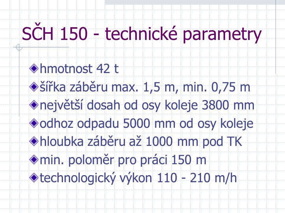 SČH 150 - technické parametry