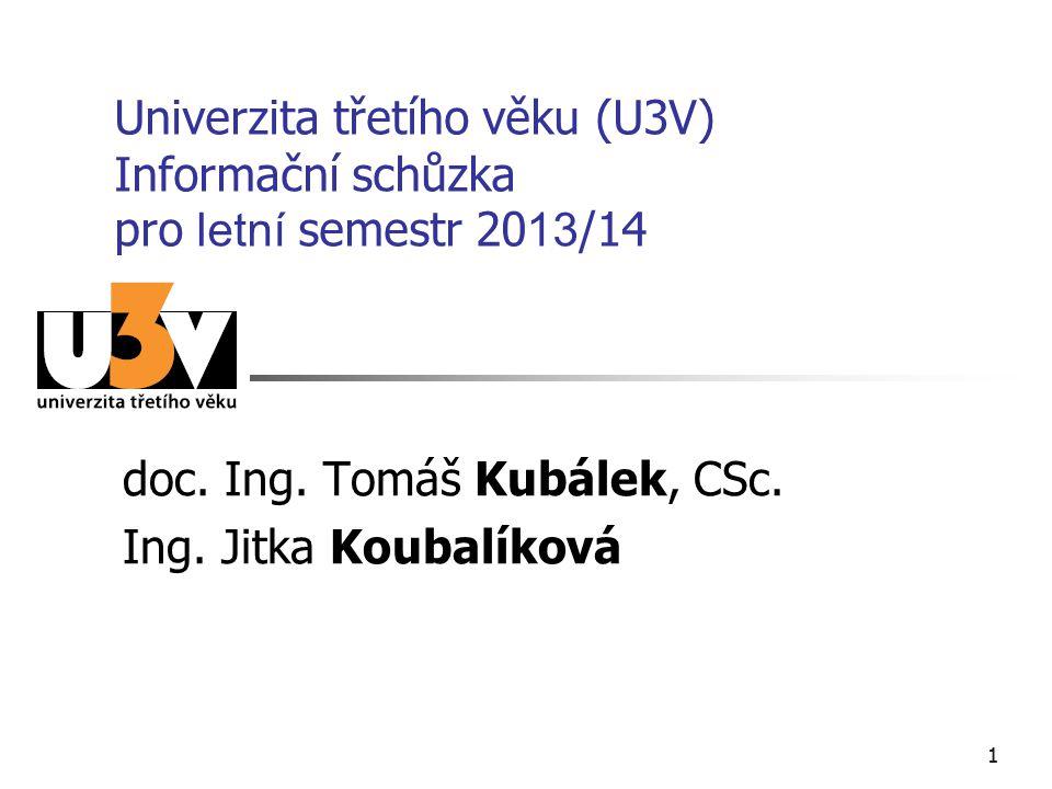 doc. Ing. Tomáš Kubálek, CSc. Ing. Jitka Koubalíková