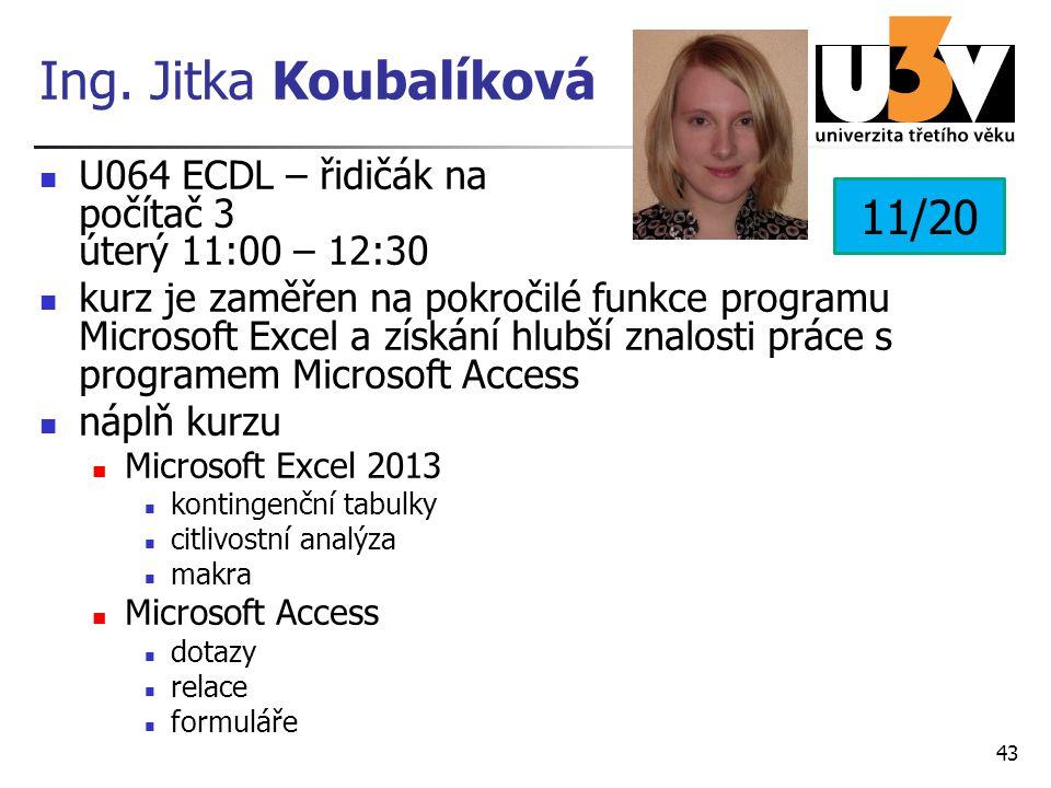 Ing. Jitka Koubalíková 11/20
