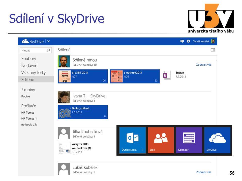 Sdílení v SkyDrive