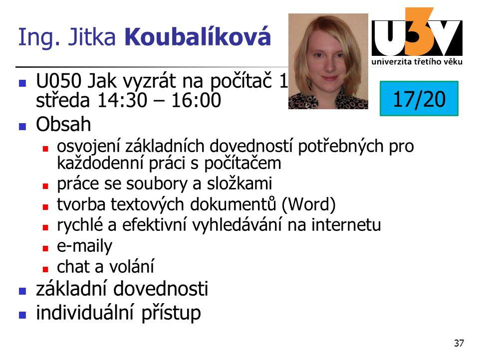Ing. Jitka Koubalíková 17/20