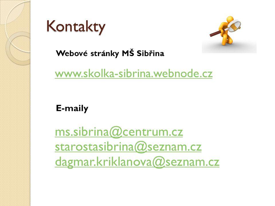 Kontakty ms.sibrina@centrum.cz starostasibrina@seznam.cz
