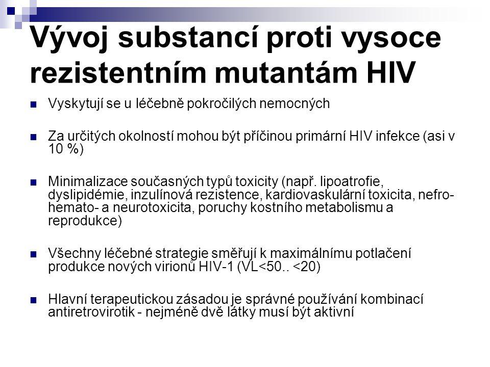 Vývoj substancí proti vysoce rezistentním mutantám HIV