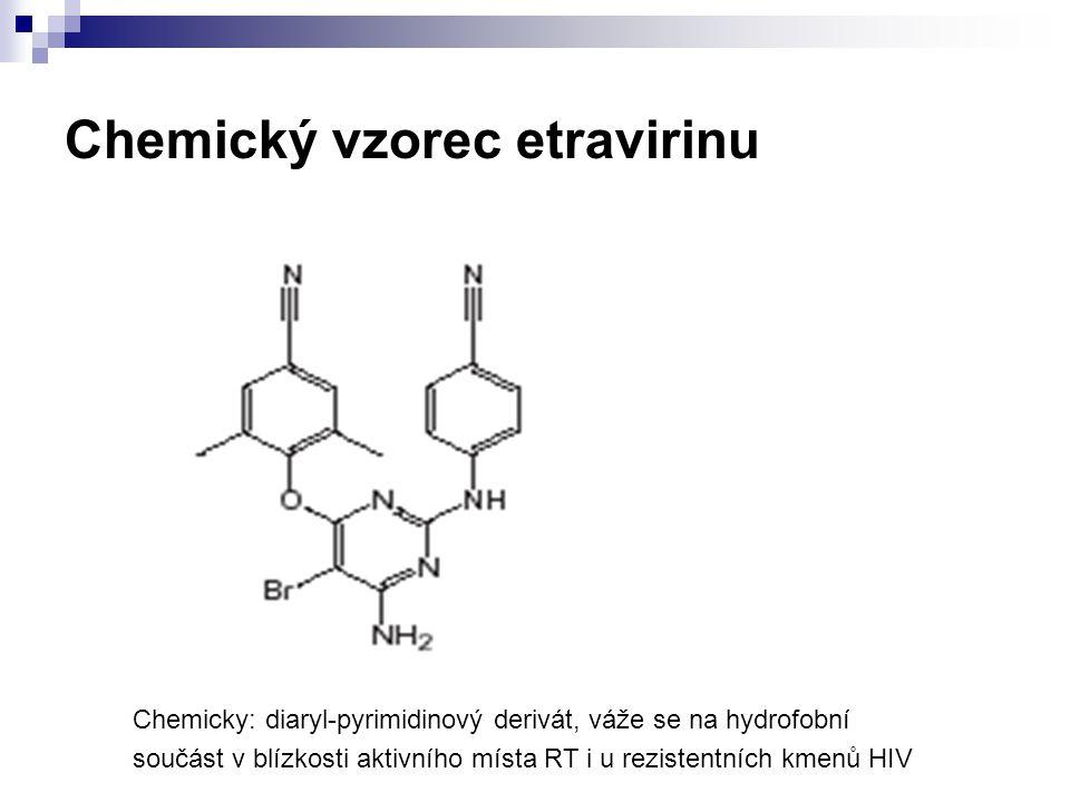 Chemický vzorec etravirinu