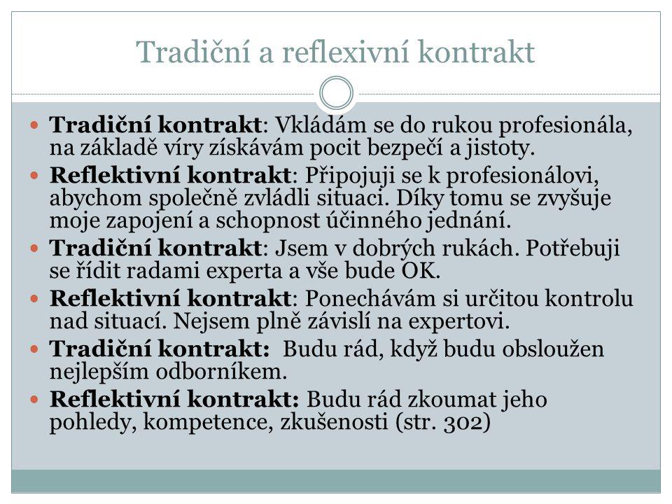 Tradiční a reflexivní kontrakt
