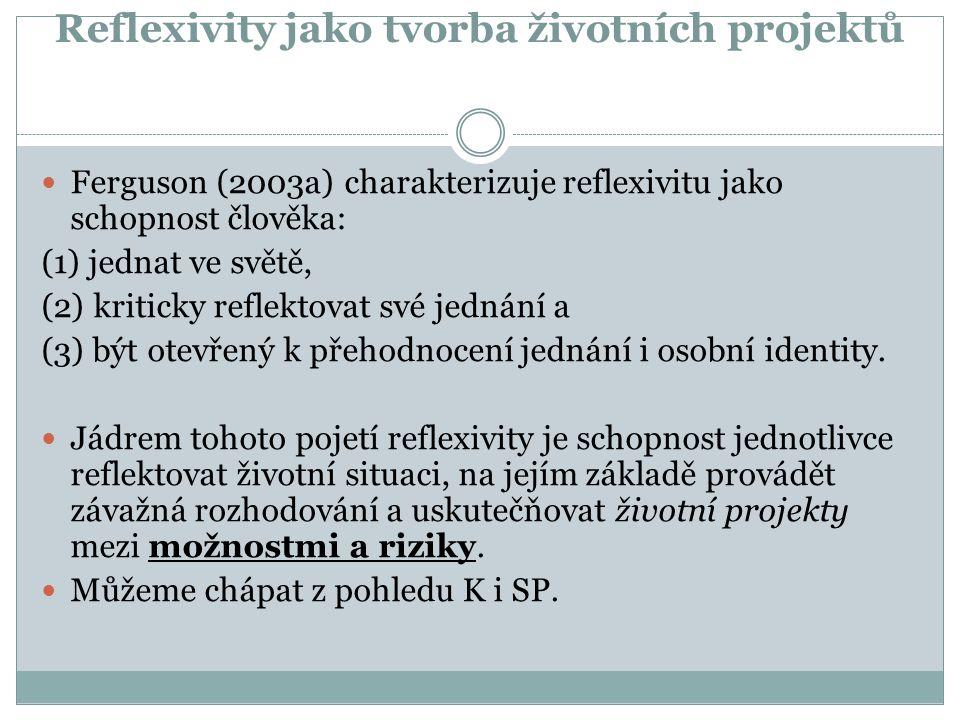 Reflexivity jako tvorba životních projektů