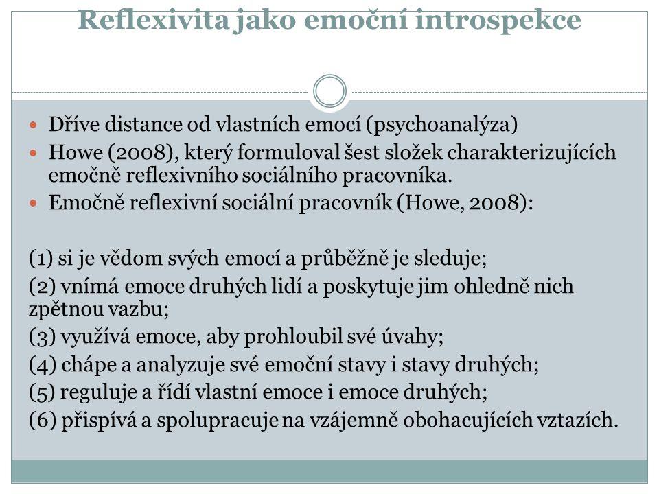 Reflexivita jako emoční introspekce