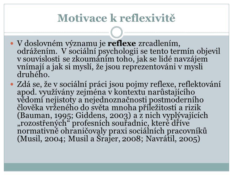 Motivace k reflexivitě
