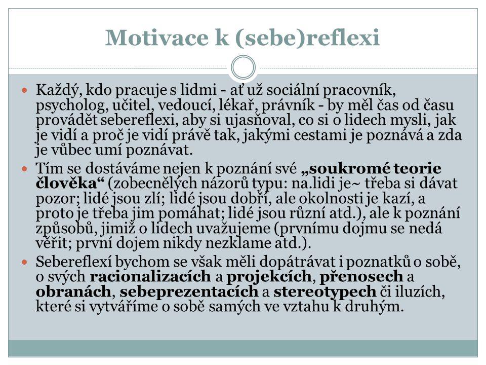 Motivace k (sebe)reflexi