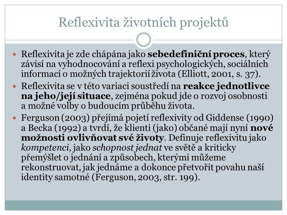 Reflexivita životních projektů