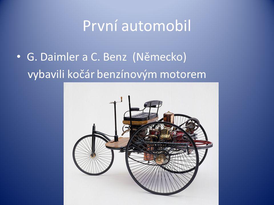 První automobil G. Daimler a C. Benz (Německo)