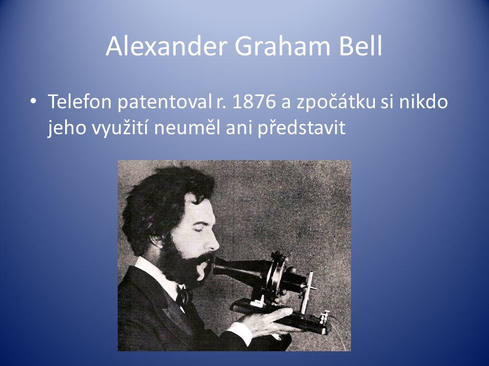 Alexander Graham Bell Telefon patentoval r.