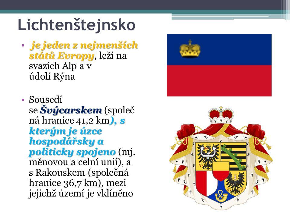 Lichtenštejnsko je jeden z nejmenších států Evropy, leží na svazích Alp a v údolí Rýna.