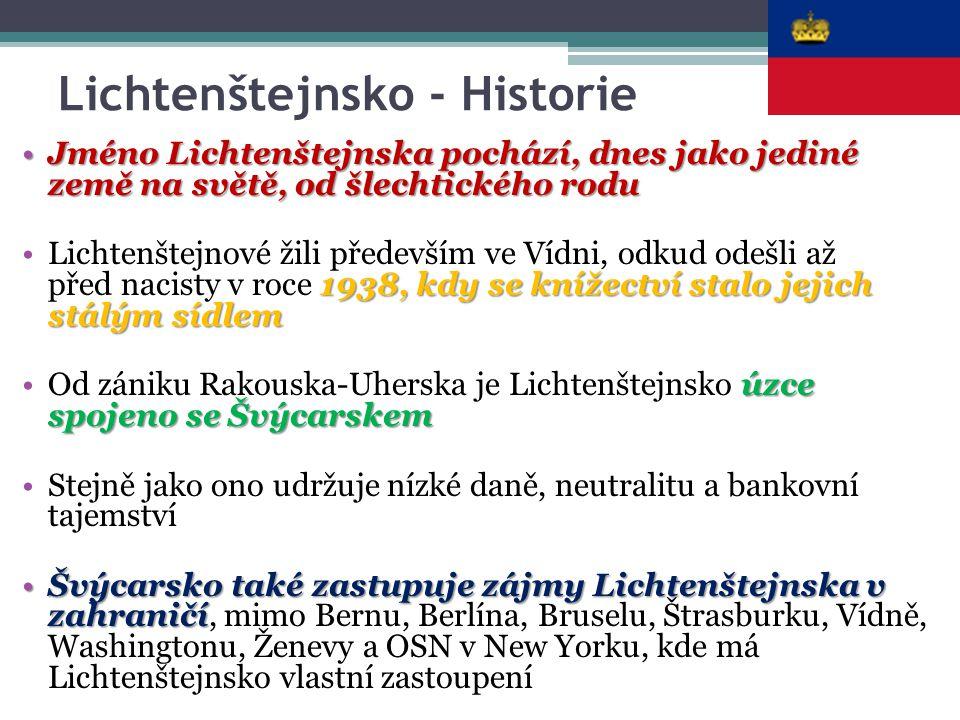 Lichtenštejnsko - Historie