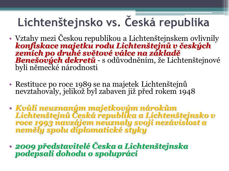 Lichtenštejnsko vs. Česká republika