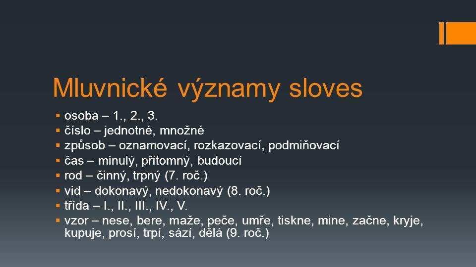 Mluvnické významy sloves