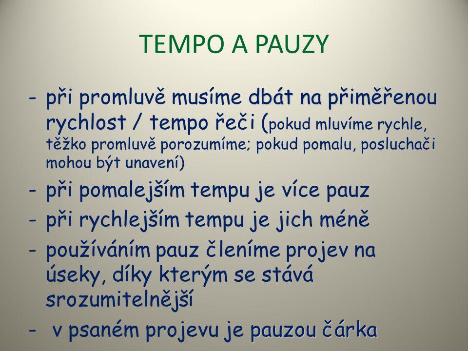TEMPO A PAUZY