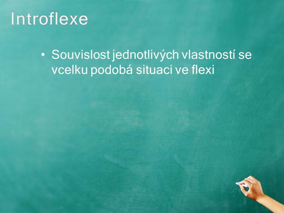 Introflexe Souvislost jednotlivých vlastností se vcelku podobá situaci ve flexi