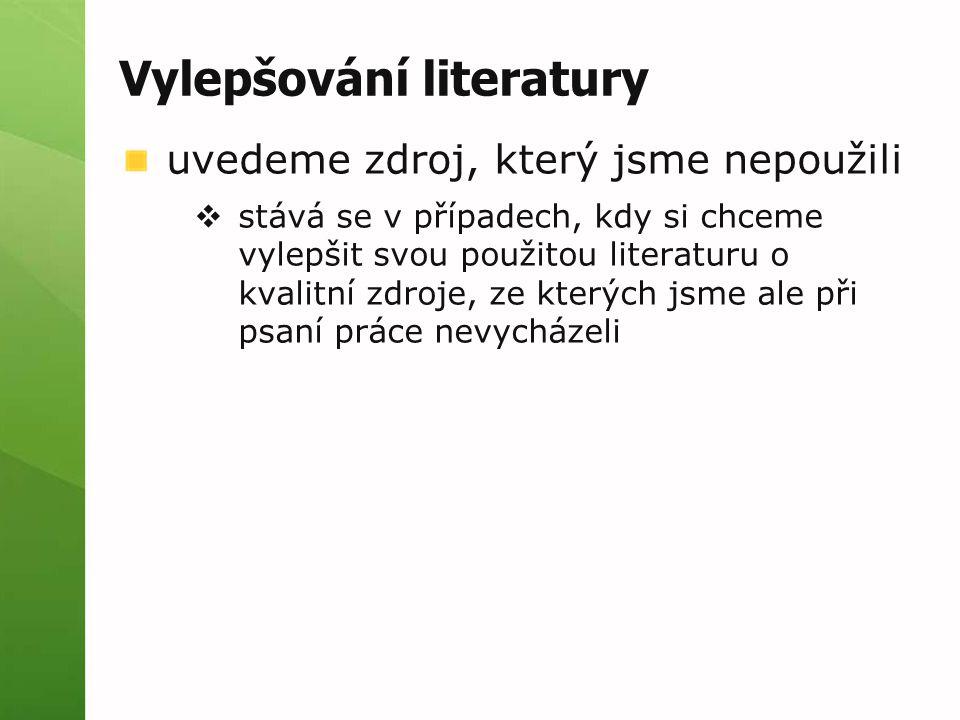 Vylepšování literatury