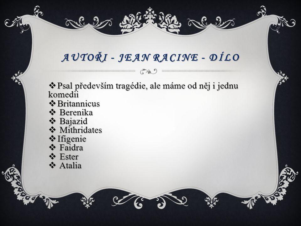 Autoři - Jean Racine - dílo