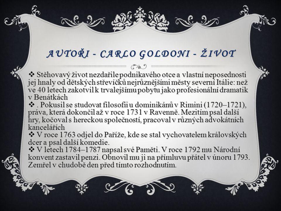 Autoři - Carlo Goldoni - život