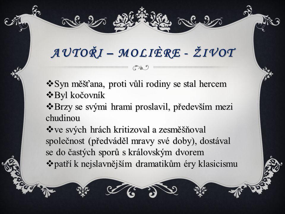 Autoři – Molière - život