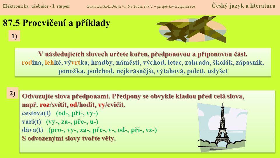 87.5 Procvičení a příklady 1)