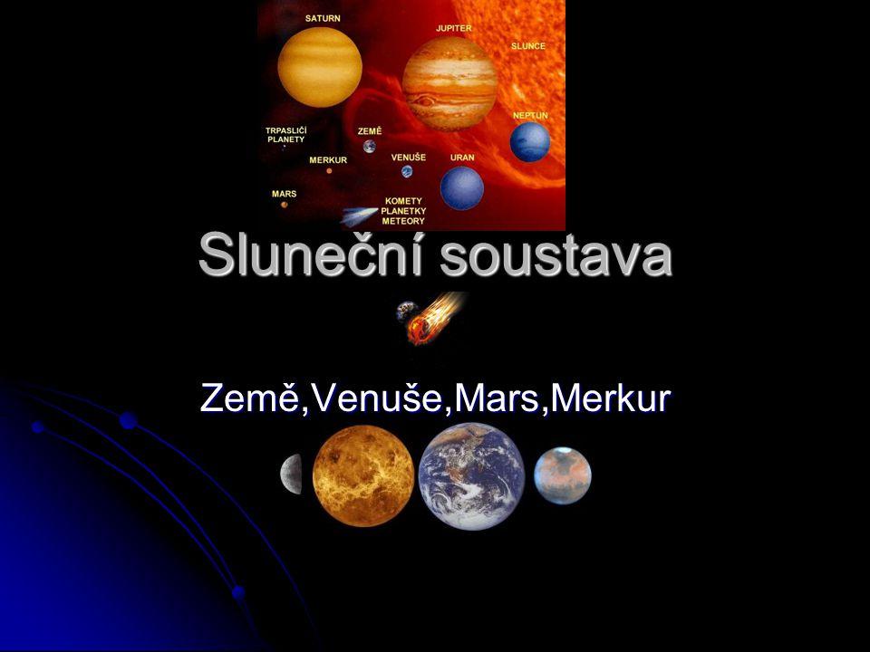 Země,Venuše,Mars,Merkur