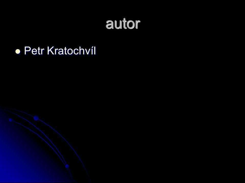 autor Petr Kratochvíl