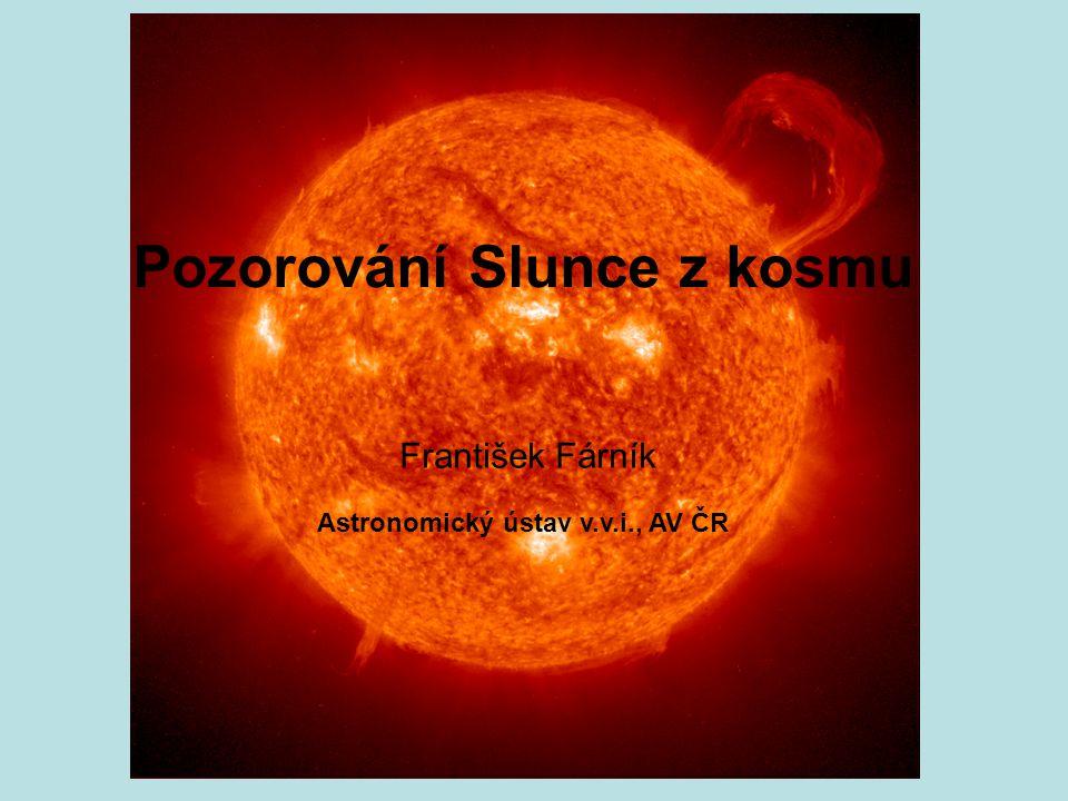 Pozorování Slunce z kosmu