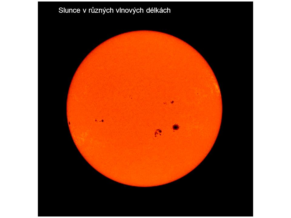 Slunce v různých vlnových délkách