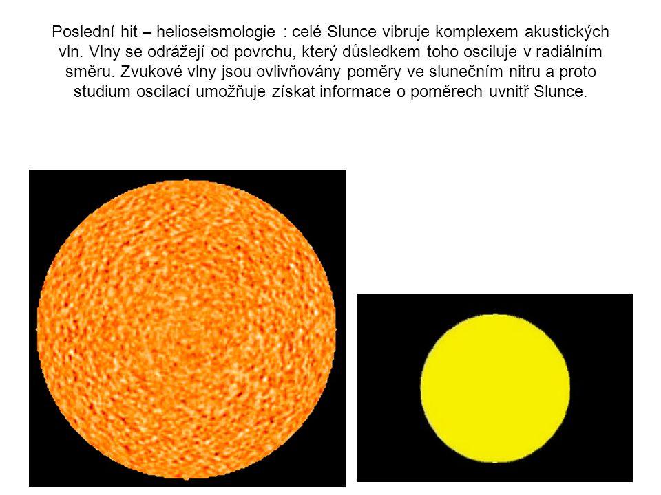 Poslední hit – helioseismologie : celé Slunce vibruje komplexem akustických vln.
