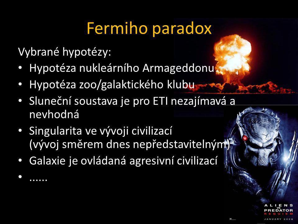 Fermiho paradox Vybrané hypotézy: Hypotéza nukleárního Armageddonu