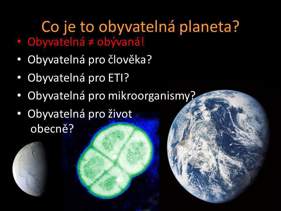 Co je to obyvatelná planeta